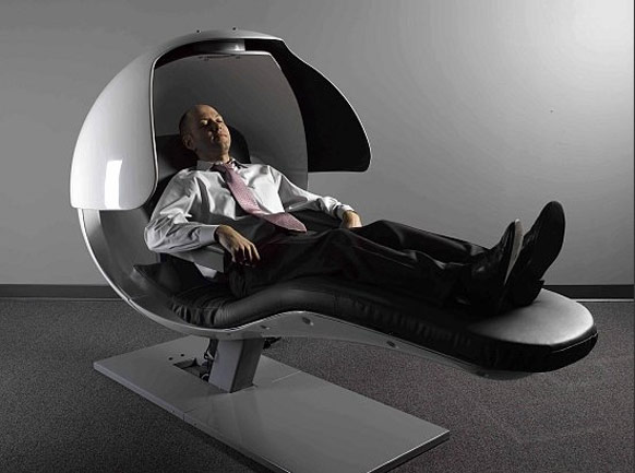 Bizarre energy pod that keeps Googlers refreshed